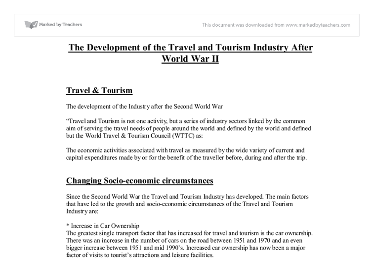 developments in the travel and tourism industry