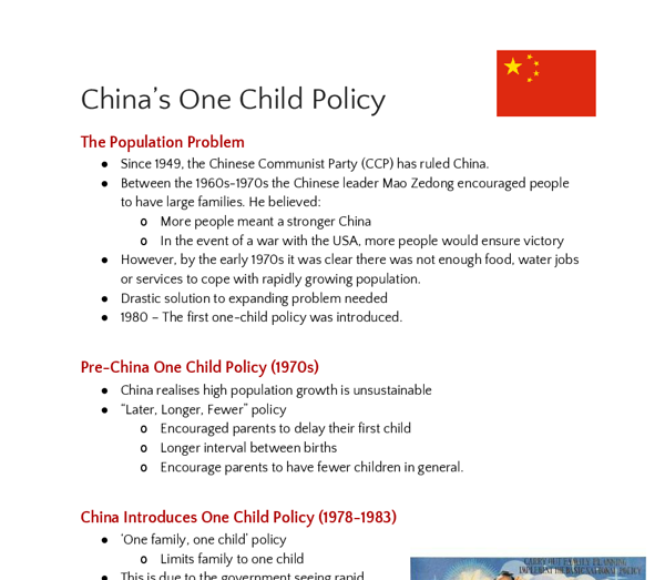 essays on one child policy One child policy this essay one child policy and other 64,000+ term papers, college essay examples and free essays are available now on reviewessayscom autor: review • december 20, 2010 • essay • 325 words (2 pages) • 524 views page 1 of 2.