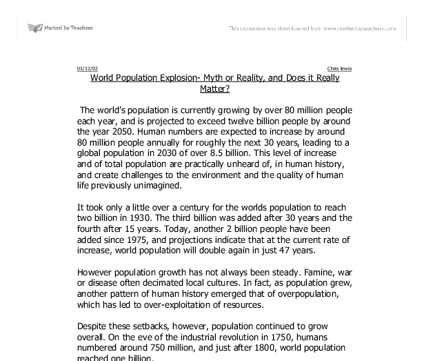 population problem essay in english This free sociology essay on essay: population control in china is perfect for sociology students to use as an example.