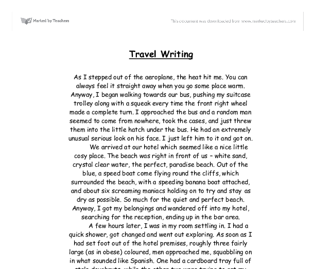 Essay on a pleasure trip