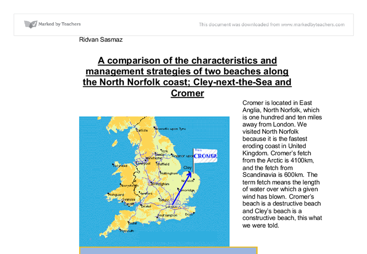 geography coast coursework