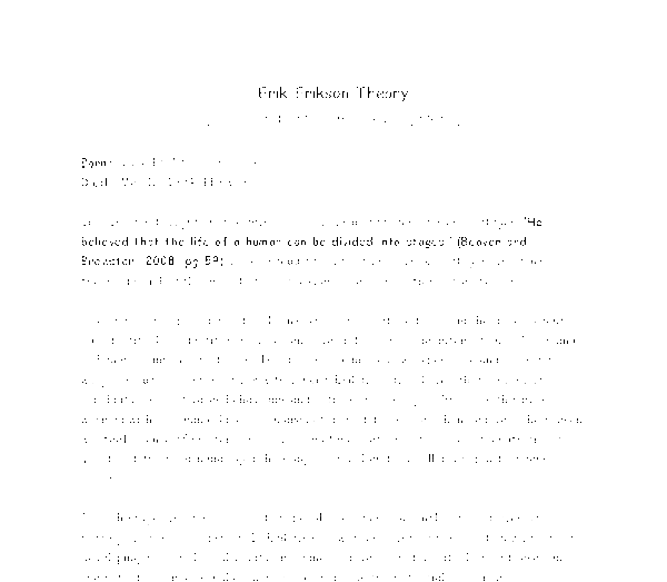Erik Erikson's Theory of Psychosocial Stages Essay Sample