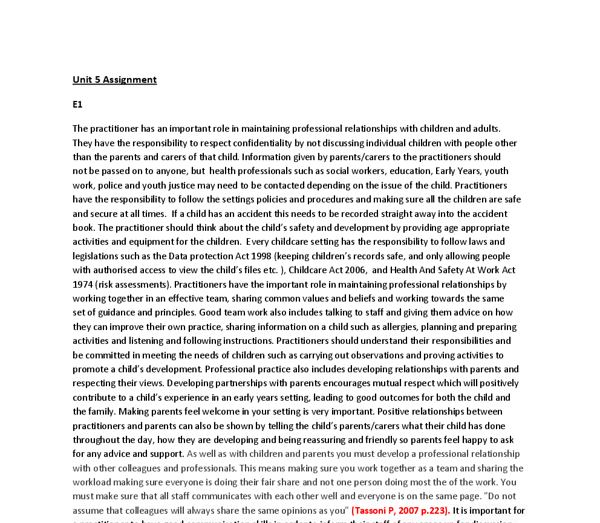 health acre diploma essay