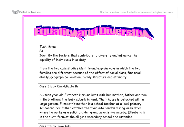diversity of individuals essay Diversity essay-advice i believe that diversity does not there was more of a mixing and i'm really good friends with some conservative people now i was.