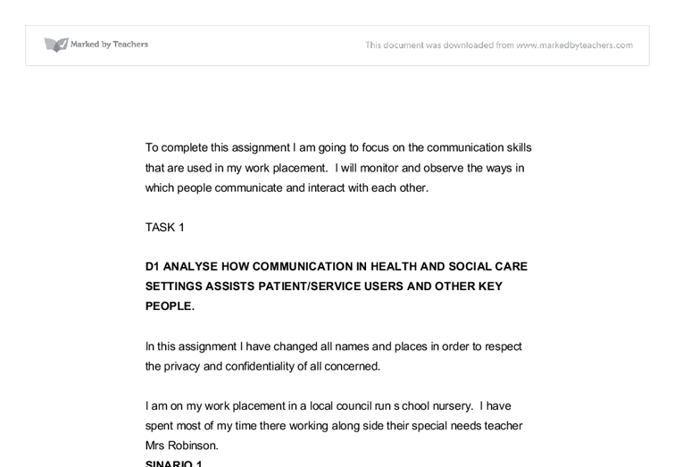 developing effective communication in health and social care p5 Edexcel btec level 3 nationals specification in health and social care unit 24: introduction to counselling skills for boundaries to be effective.