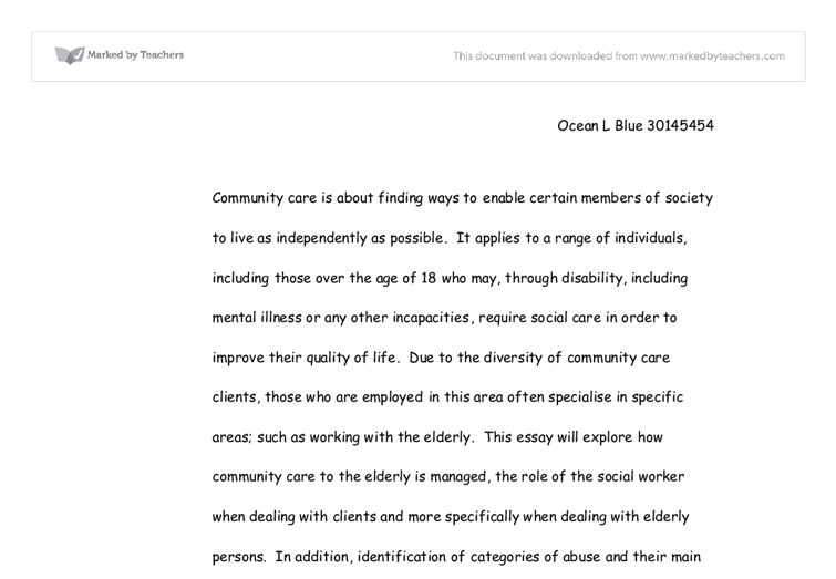 The Neglect Of The Elderly Essay Sample
