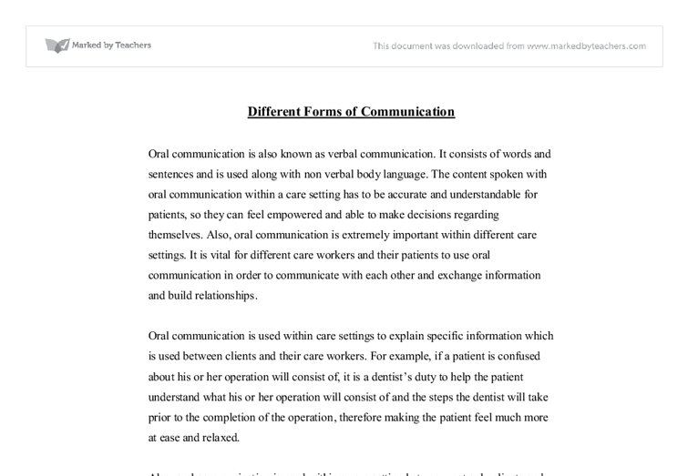 different forms of communicationi essay Hamlet revenge essay different forms of communicationi ban of in order to meet the needs of very different audiences this essay is in the point of.
