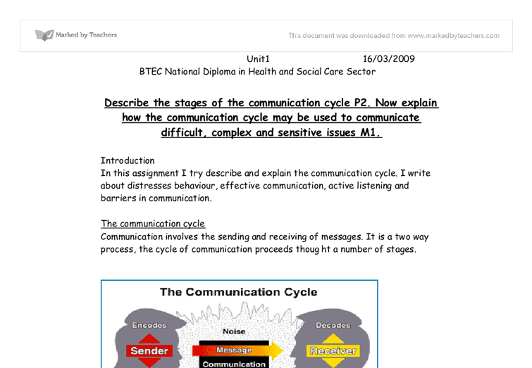 social work essays communication