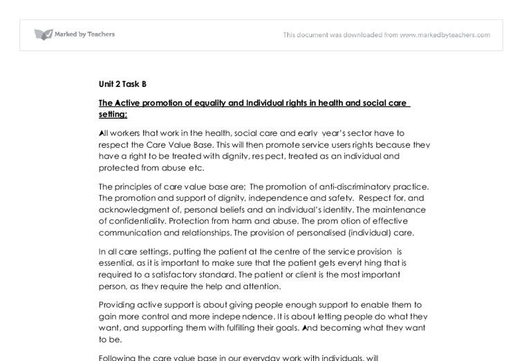 inequalities in health and social care essay