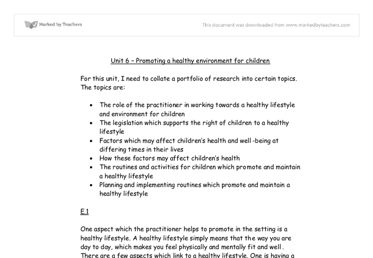unit 8 promoting health and well Unit 1 unit 2 unit 5 unit 3 p1 describe health promotion and the purpose and aims of three different health promotion list 3 different types of health promotion.