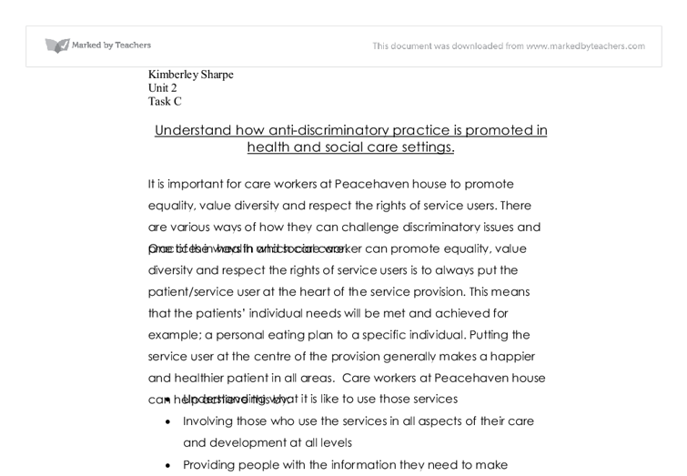 anti discriminatory practice 3 essay I will demonstrate the role of the practitioner on reflective anti-oppressive practice l will  this essay has been submitted by a  to anti-discriminatory.
