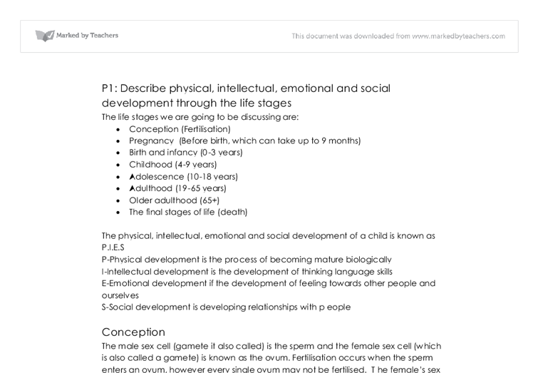 describe physical intellectual emotional and social development  document image preview