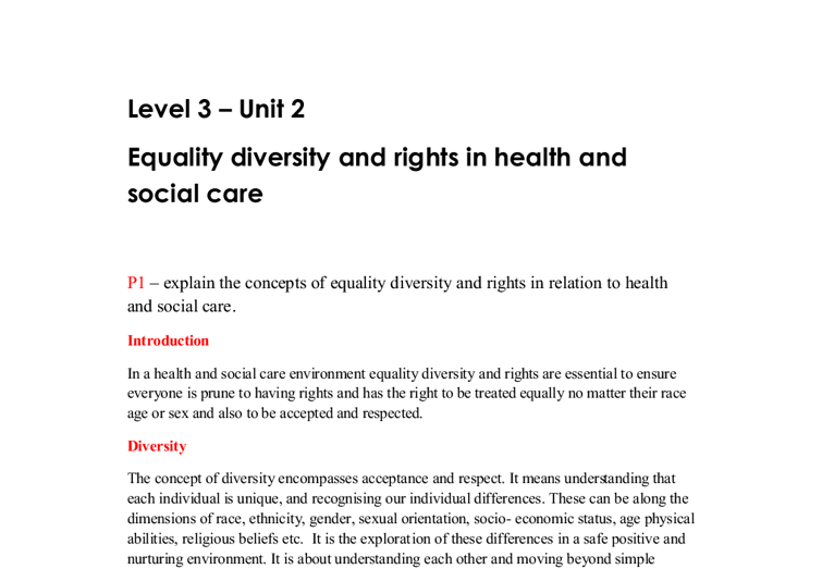 equality diversity and inclusion 2 essay
