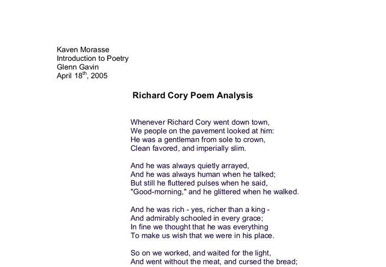 analysis poem essay