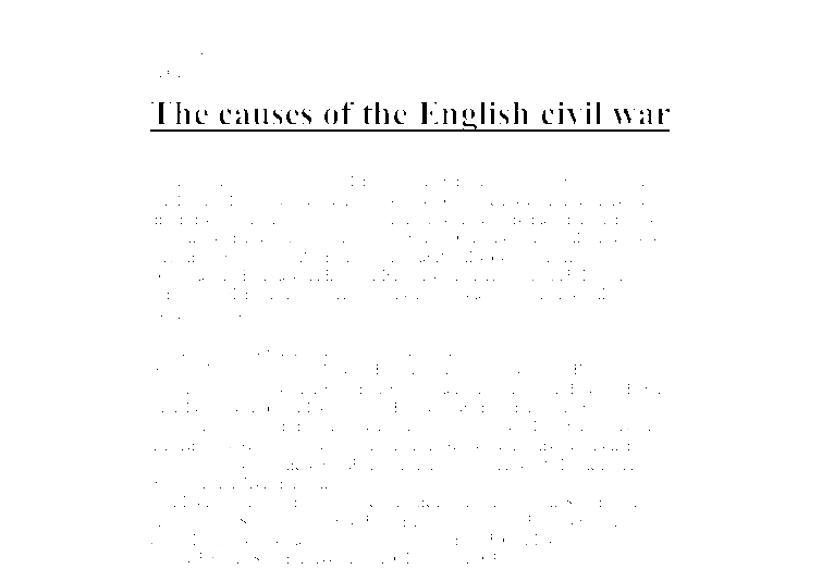 Causes of the civil war essay documents