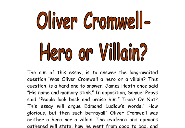 hero or villain essay