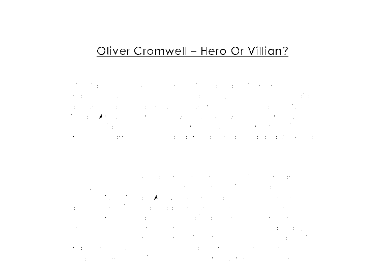 oliver cromwell a level history marked by teachers com document image preview