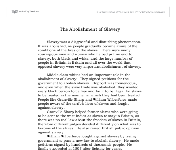 Introduction to slavery essay