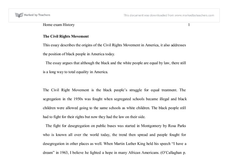 Martin luther king and rosa parks essay