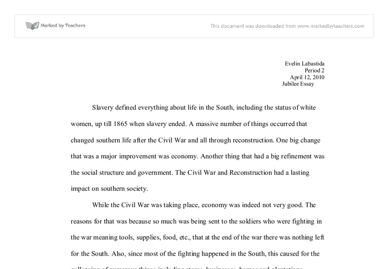 The American Civil War Essay: Causes and Results