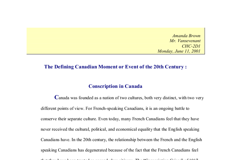 distinctly canadian essay