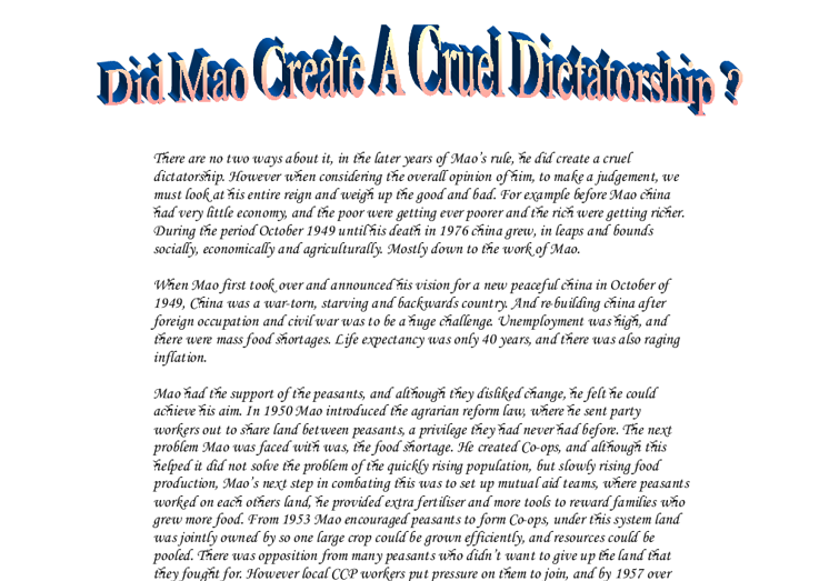 Essay on dictatorship