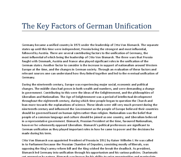Extended Essay  Bismarck and The Unification of Germany   A Level     College paper Service   hangthewitch com Bismarck and the Unification of Germany Writing and History Blog Pinterest  masters essay writers writing