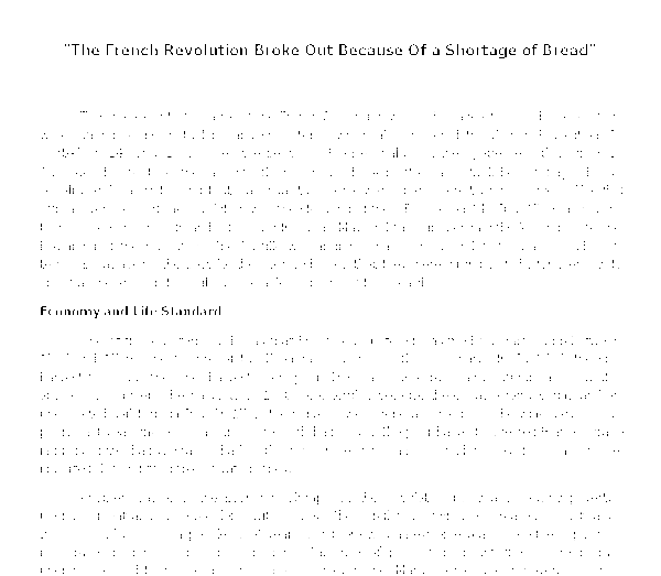 the french revolution broke out because of a shortage of b document image preview