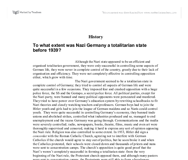 to what extent was germany a