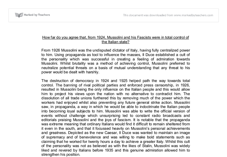 To What Extent Was Mussolini's Foreign Policy a Failure from 1933-41 Essay - Part 41