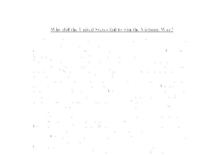 why did the united states fail to win the vietnam war a level  document image preview