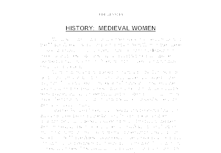 history medieval women   a level history   marked by teacherscom document image preview