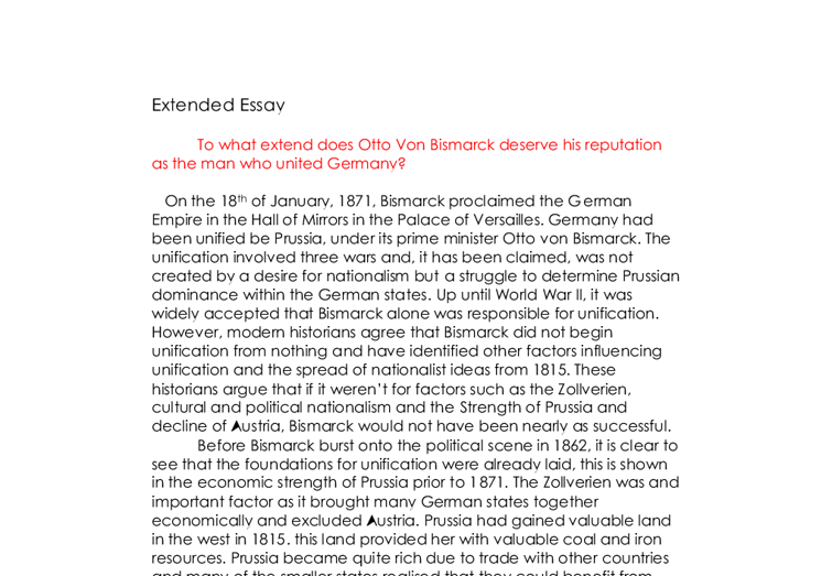 bismarcks germany essay