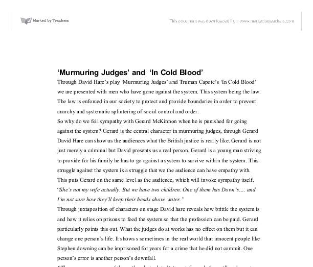 murmuring judges essay