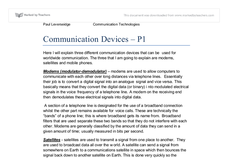 Communications technology essay