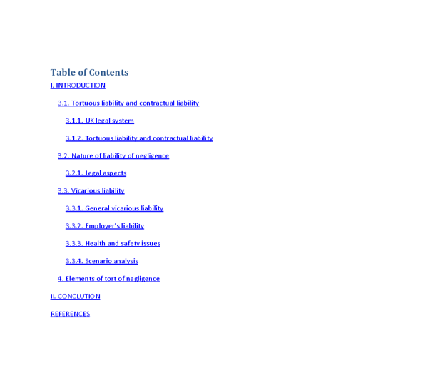 tortuous liability essay Explore a database of 500,000+ college essay examples  contrast liability in tort with contractual liability  the term tortuous liability is fixed by law.