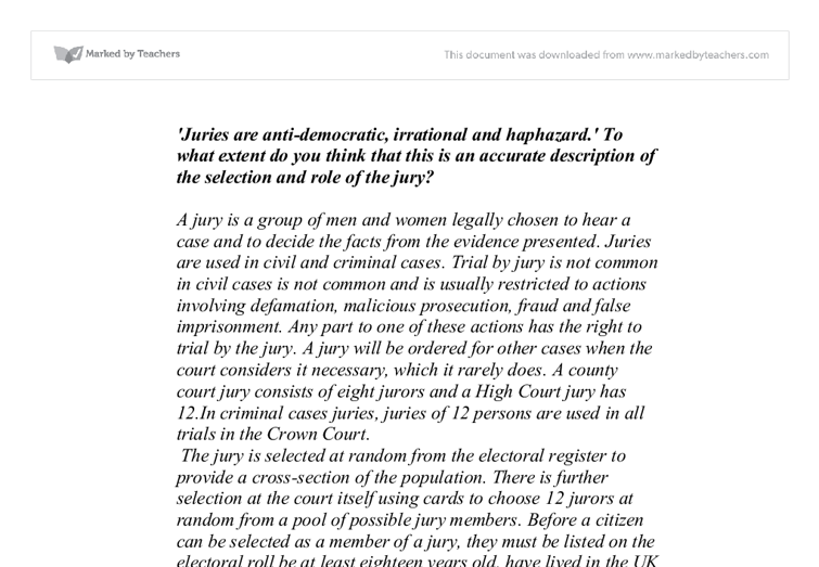 law and justice essay a level Sample a grade essay plan for a2 (aqa) on law and justice by paul selman.