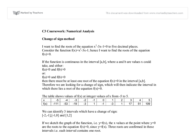 ocr a-level maths coursework
