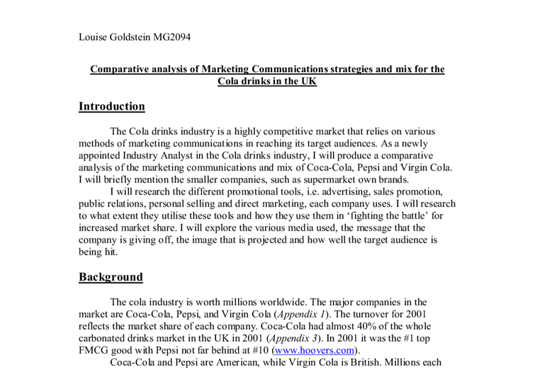 essay on marketing communications mix Marketing is the study and management of exchange relationships marketing is  used to create,  a firm using a sales orientation focuses primarily on the selling/ promotion of the firm's existing products, rather than  the four ps, often referred  to as the marketing mix or the marketing program, represent the basic tools which .