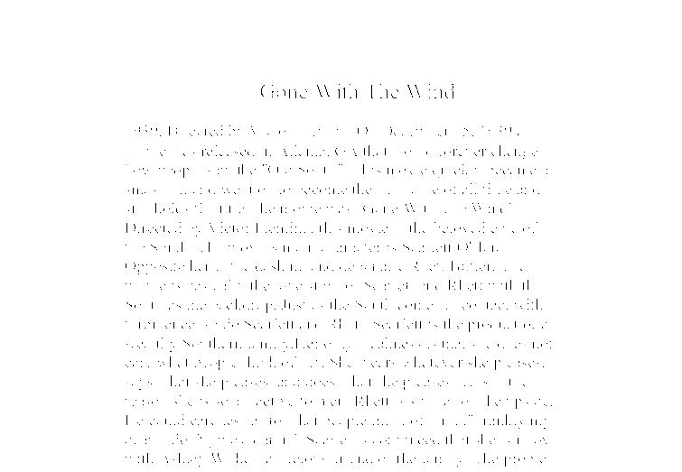 Gone with the wind theme essay