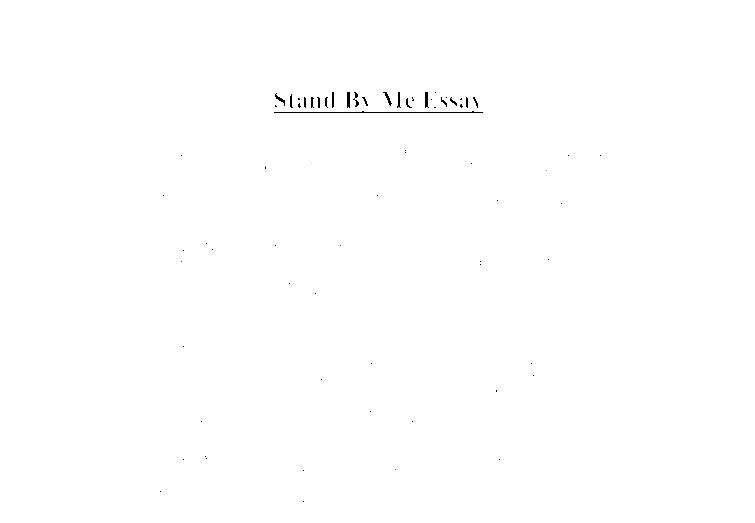 stand by me essay a level media studies marked by teachers comdocument image preview. Resume Example. Resume CV Cover Letter