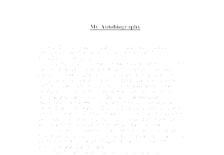 short autobiography essay