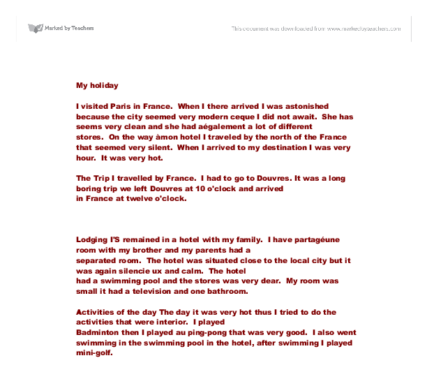 best holiday essay my best holiday essay
