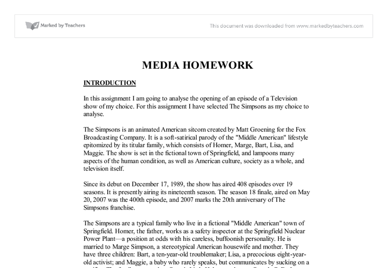 Essay on tv serial
