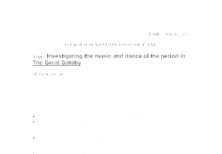 investigating the music and dance of the period in the great document image preview