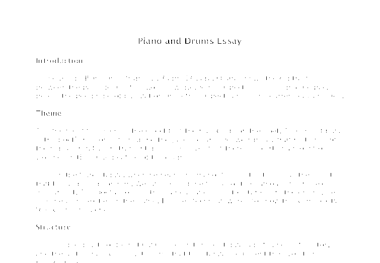 The Piano and the Drum – Intro, Poem, and the Analysis