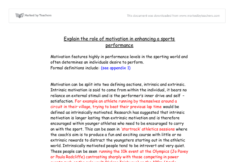 research paper on motivation in education