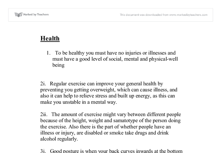 essay about sports and health