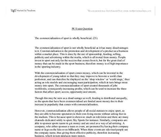 commercialisation of education essay