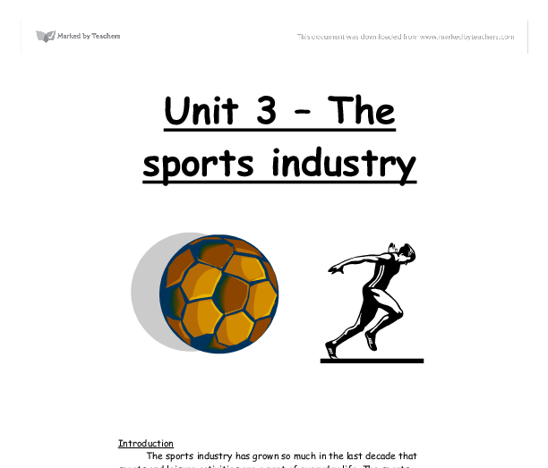 the football industry essay The history of english football is a long and detailed one england was the first country where the game was developed and codified the modern global game of football was first codified in 1863 in london the impetus for this was to unify english public school and university football games there is evidence for refereed,.
